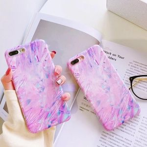 NEW iPhone X/7/8/7+/8+ Laser Dream Marble Case